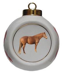 Barb Porcelain Ball Christmas Ornament