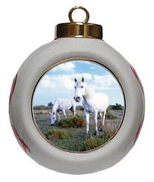 Camargue Porcelain Ball Christmas Ornament