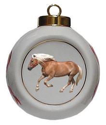 Haflinger Porcelain Ball Christmas Ornament