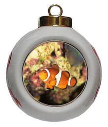 Clownfish Porcelain Ball Christmas Ornament