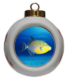 Triggerfish Porcelain Ball Christmas Ornament