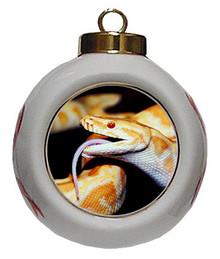 Python Snake Porcelain Ball Christmas Ornament