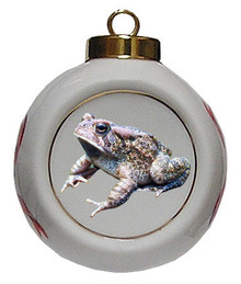 Toad Porcelain Ball Christmas Ornament