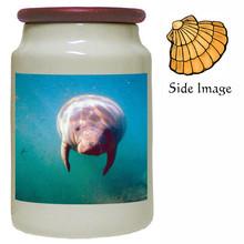 Manatee Canister Jar