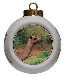 Camel Porcelain Ball Christmas Ornament