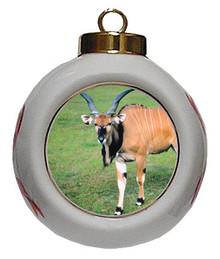 Eland Porcelain Ball Christmas Ornament