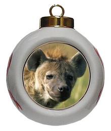 Hyena Porcelain Ball Christmas Ornament