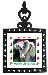 Koala Bear Christmas Trivet