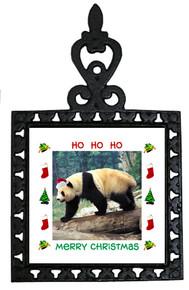 Panda Bear Christmas Trivet