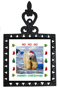 Polar Bear Christmas Trivet