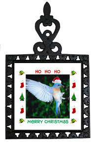 Bluebird Christmas Trivet