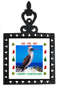 Blue Footed Booby Christmas Trivet