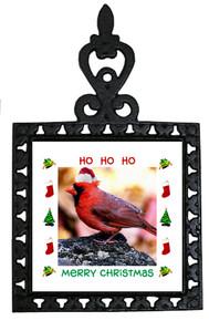 Cardinal Christmas Trivet