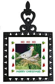 Dove Christmas Trivet