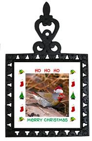 Finch Christmas Trivet
