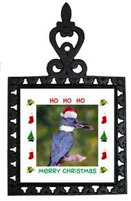 Belted Kingfisher Christmas Trivet