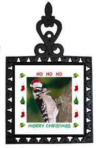 Downey Woodpecker Christmas Trivet