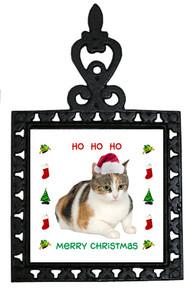 Calico Cat Christmas Trivet