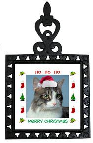 Cat Christmas Trivet