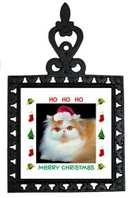 Persian Cat Christmas Trivet