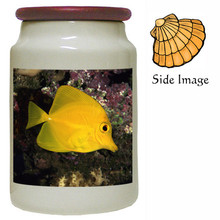 Yellow Tang Canister Jar