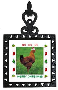 Chicken Christmas Trivet