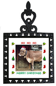 Cow Christmas Trivet
