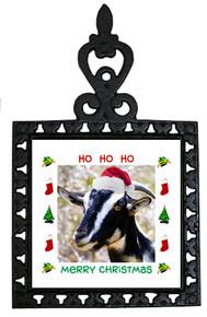Goat Christmas Trivet