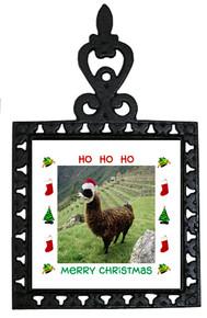 Llama Christmas Trivet