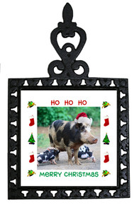 Pig Christmas Trivet