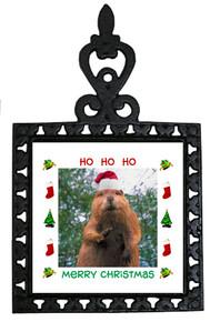 Beaver Christmas Trivet