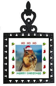 Chipmunk Christmas Trivet