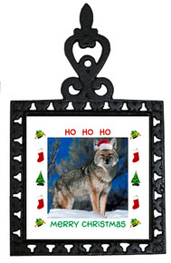 Coyote Christmas Trivet