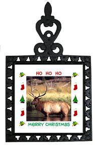 Elk Christmas Trivet