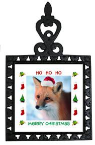 Fox Christmas Trivet