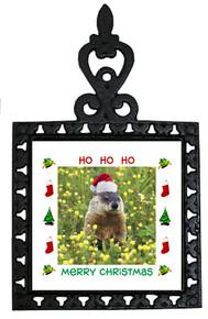 Groundhog Christmas Trivet