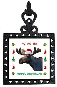 Moose Christmas Trivet
