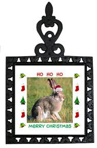 Rabbit Christmas Trivet