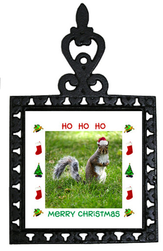 Squirrel Christmas Trivet