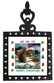 Squirrel Christmas Trivet
