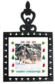 Wolf Christmas Trivet