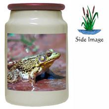 Green Frog Canister Jar