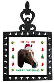 Horse Christmas Trivet