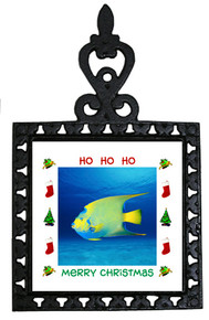 Angelfish Christmas Trivet