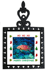 Grouper Christmas Trivet