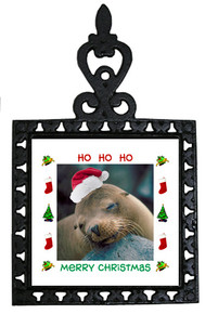 Sea Lion Christmas Trivet