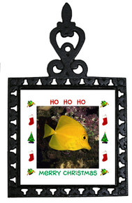 Yellow Tang Christmas Trivet