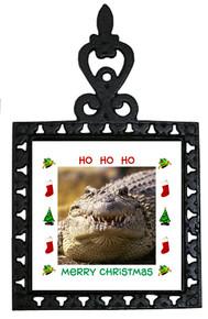 Alligator Christmas Trivet