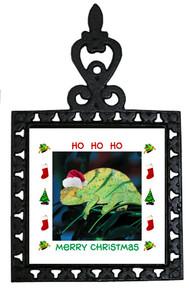 Chameleon Christmas Trivet