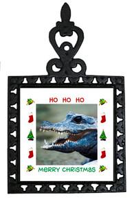 Crocodile Christmas Trivet